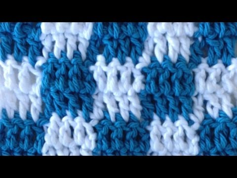 CROCHET STITCHES Left Handed Checks Changing Colors How to Pattern Maggie Weldon