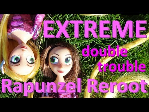 TWO EXTREME Doll Hair Reroots! Disney Store Rapunzel from Tangled The Series