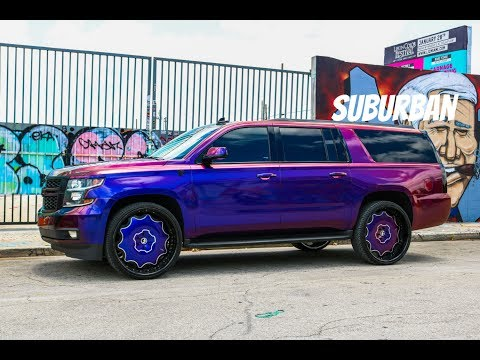 Super clean wrapped not painted Suburban on Forgiato Wheels in HD (must see)