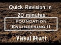 Revision of Terzaghi Theory | Foundation Engineering | Civil | GATE | ESE | Vishal Sir