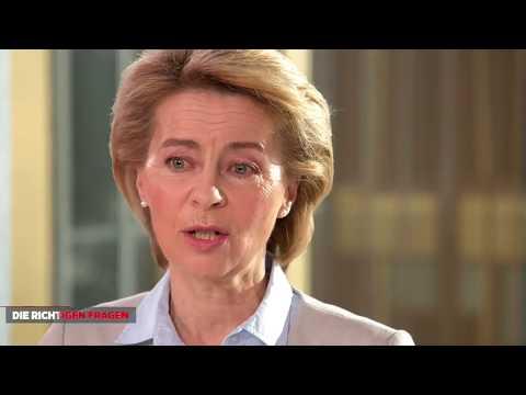 Ursula v. d. Leyen beschwichtigt BILDReporter
