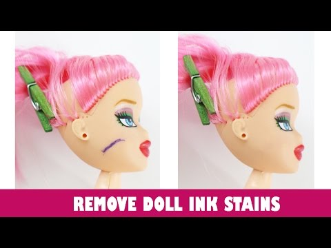 How to remove Ink, Marker, Pen, Sharpie, Dye, and other Ink stains from your doll's face and body