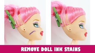 How to remove Ink, Marker, Pen, Sharpie, Dye, and other Ink stains from your doll