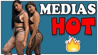 ♥ PROBÁNDONOS  MEDIAS de MALLAS SUPER HOT | haul try on 💥