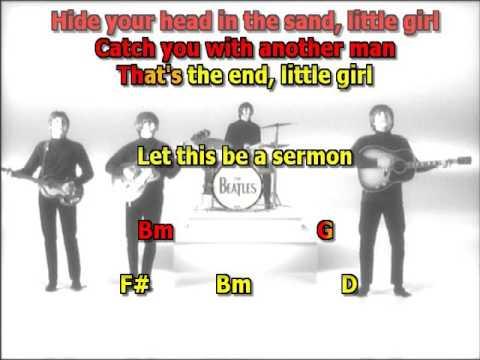 Run for your Life Beatles mizo vocals lyrics chords
