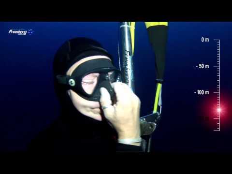 Andrea Zuccari - The deepest dive with the Mask! Andrea Zuccari - 175 mt No Limits Record Italiano