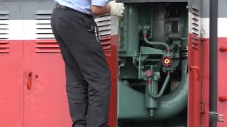 DD51-1179号機 エンジン起動から仕業点検までノーカット 山陰迂回貨物に向けた試運転列車(2018/8/15)