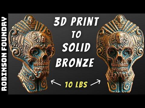 Casting Bronze Statue│Lost PLA casting│The Ancient