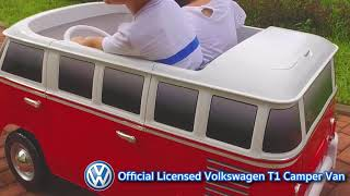 Volkswagen T1 Camper Van: Two Seater Battery Powered Ride-On