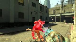 Pyro vs. Chell Keeping It Classy In Garry's Mod