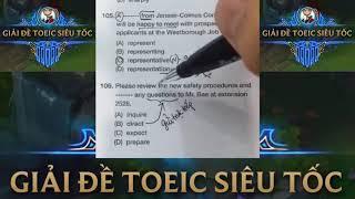 Giải chi tiết đề thi TOEIC Tháng 12 năm 2017 tuần 1 | TOEIC Part 5 mẹo hay siêu dễ