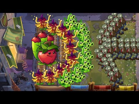 Plants vs Zombies 2 Battlez - Apple Mortar vs Witch Hazel vs Pea Pod