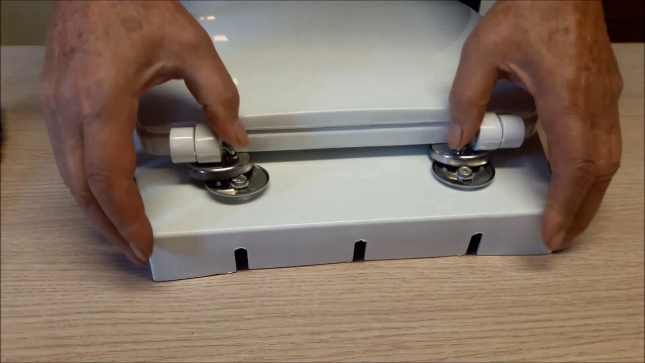 Instrucciones montaje tapa wc bisagra inox youtube for Tapaderas de wc