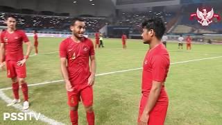 Timnas Indonesia Nyanyikan Lagu Nasional Pasca Kemenangan atas Mauritius