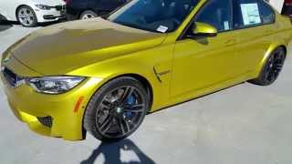 "2015 BMW M3 AUSTIN YELLOW 19"" M WHEELS MOONROOF Car Review"