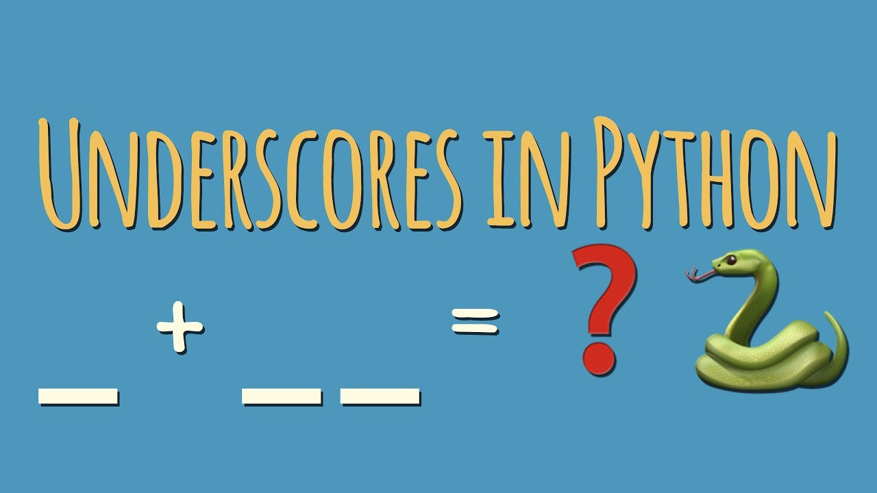 What's the meaning of underscores   &    in Python variable names