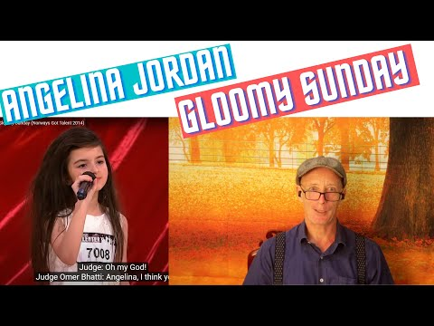 Angelina Jordan, Gloomy Sunday reaction. Knock me down with a feather, that girl has an old soul!