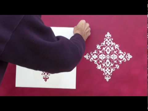 painting damask stencil