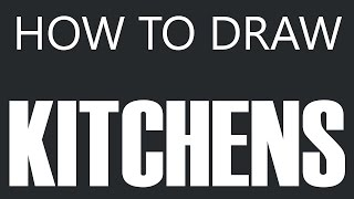 How To Draw A Kitchen - Custom Kitchen Design Drawing (stove Sink Cabinets & Floor)