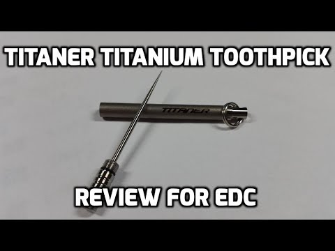 "Titaner Titanium Toothpick Keychain Fob for EDC (and ""self defense""??)"