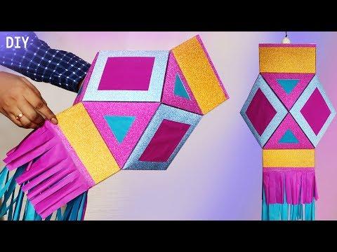 How to make traditional diwali kandil / Lantern easily | Diwali & Christmas  Decoration  Idea