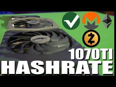 GTX 1070 TI Hashrate | Zcash | Monero | Ethereum | Vertcoin |