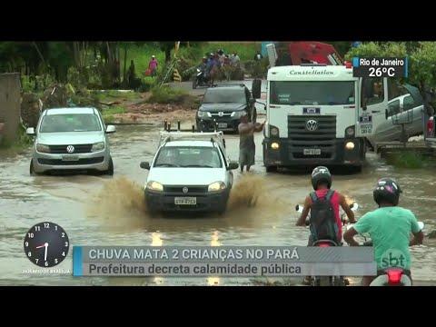 Duas crianças morrem arrastadas pela chuva em Paragominas, no Pará | SBT Brasil (12/04/18)