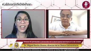 Tema: Semana de prevención y promoción de la salud mental universitaria