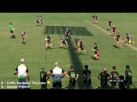 Round9 - Coastal Vipers Vs Coffs Harbour Thunder - 2019 Oztag Nationals Boys 11s