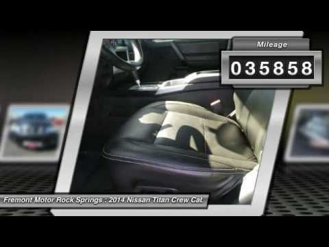 Elegant 2014 Nissan Titan Rock Springs WY 6XD16167A