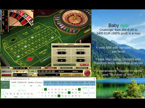 Baby App | #2 Casino Club Deposit 300 EUR | Challenge From 300 To 2400 EUR | Online Roulette Systems