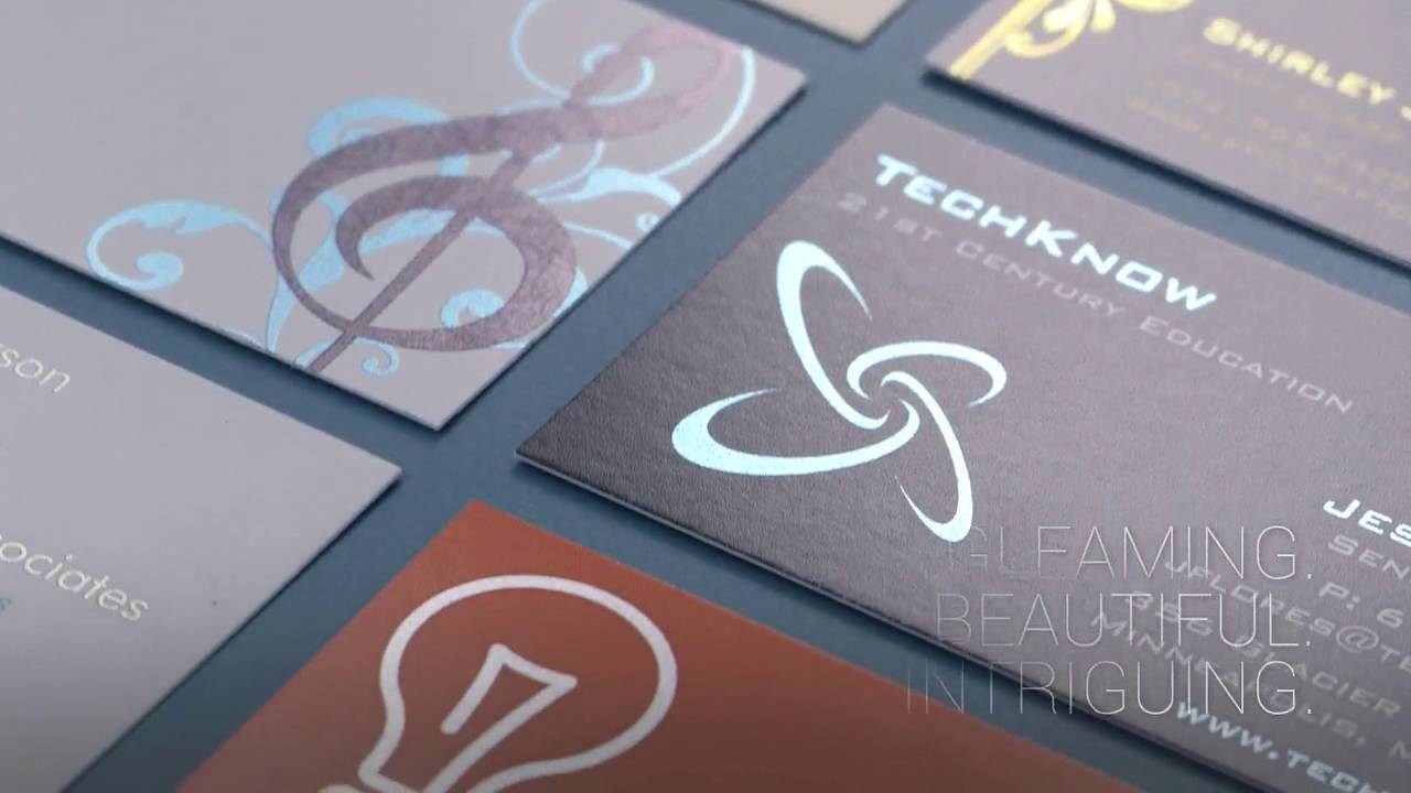 Metallic finish business cards youtube metallic finish business cards magicingreecefo Gallery