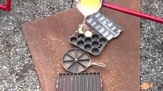 Melting metal (brass)