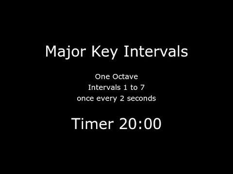 Major Key Intervals: 2 seconds per tick: 20 mins