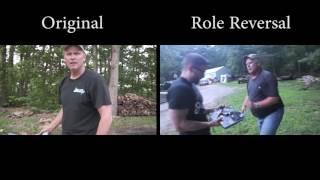 McJuggerNuggets Side by Side - Psycho Dad Axes Laptop - Role Reversal