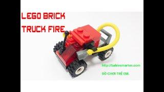 Lego fire truck mini xếp hình đồ chơi cho bé