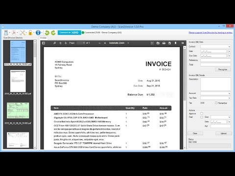 Osceola County Business Tax Receipt Word Scan Invoices And Receipts Into Xero  Youtube Invoice Attached Pdf with Recurring Invoice Excel Scan Invoices And Receipts Into Xero Automotive Invoice Excel