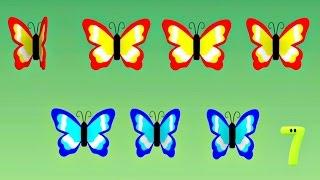 """Развивающий мультфильм: """"Считаем с Полой"""". Цифра 7. Прекрасные бабочки."""