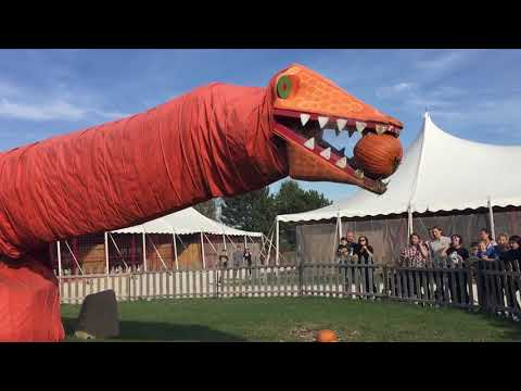 Pumpkin Eating Dinosaur @ Goebbert's Farm in South Barrington, Illinois