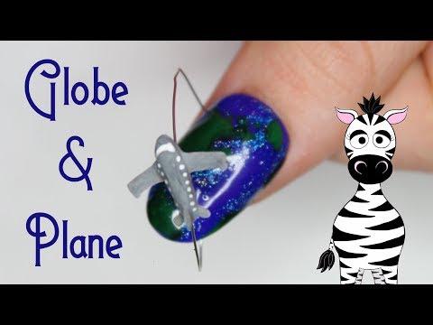 4D Airplane Flying Over Earth Acrylic Nail Art Tutorial | Madam Glam thumbnail