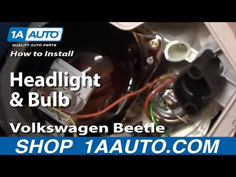How To Install Replace Headlight and Bulb Volkswagen Beetle 98-05 1AAuto.com