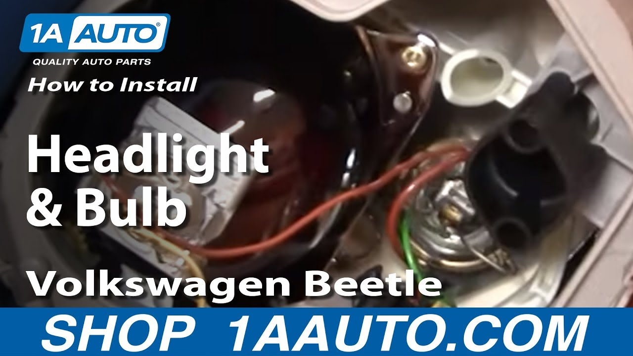 How To Change Headlight Bulb >> How To Install Replace Headlight and Bulb Volkswagen ...