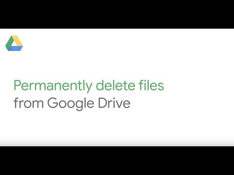 Permanently delete files from Google Drive