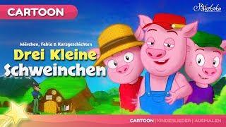 Drei Kleine Schweinchen kinder geschichte | Märchen für Kinder und Gute Nacht Geschichte