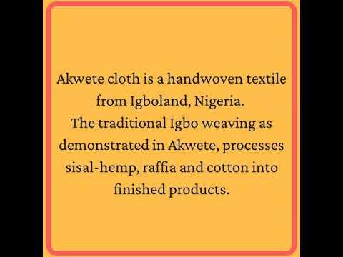 African textiles: Akwete