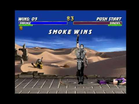 Mortal Kombat Trilogy (PSX) - Longplay as Human Smoke