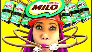 WOW! Milo Chocolate Drinking Helmet! Actually works!【CC Available】