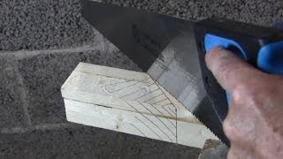Basic Woodworking - Using A (hand) Saw