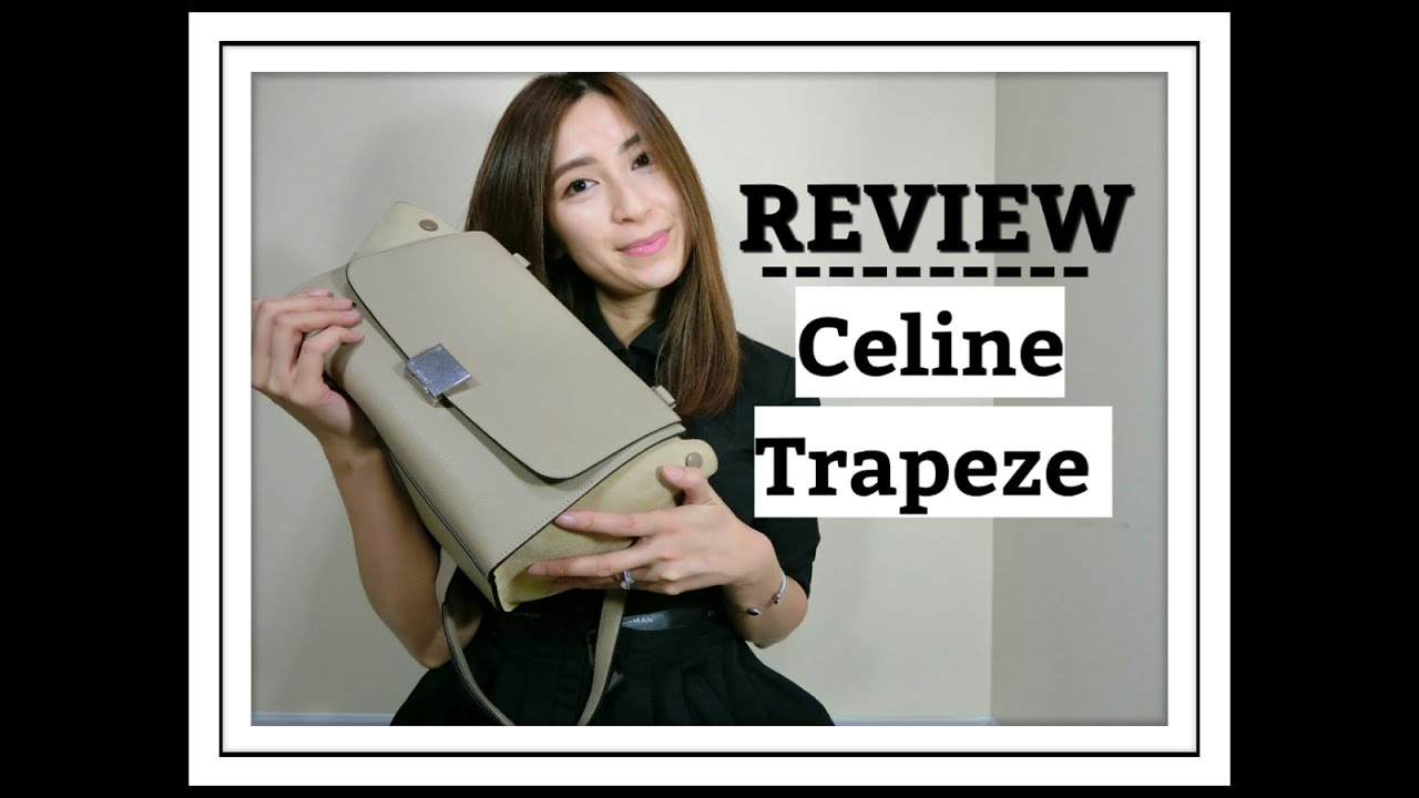 celine gray 1aqx  CELINE Trapeze Bag Review  Size Small/Mini  One Yr Wear & Tear   Minimalist Style
