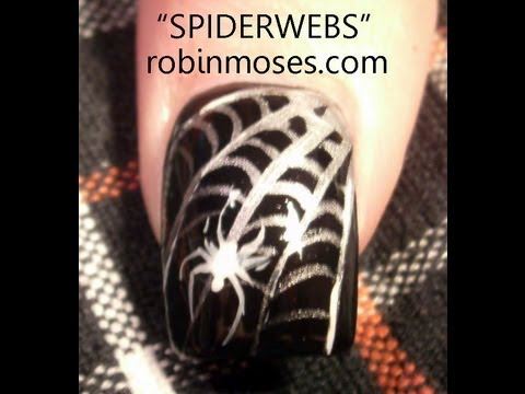 Nail Art Tutorial | DIY Easy Halloween Nails | Spider Web Design - Nail Art Tutorial DIY Easy Halloween Nails Spider Web Design